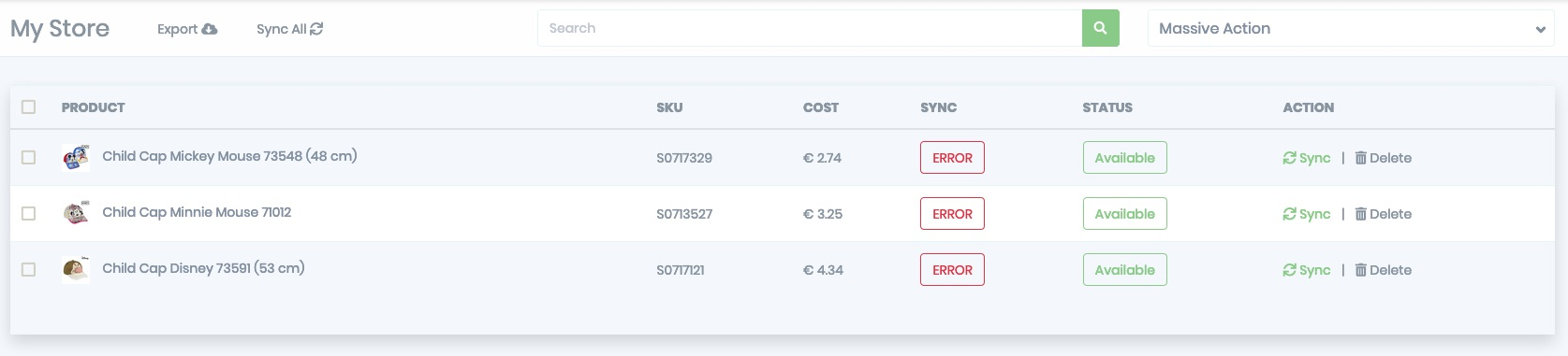 BigBuy Magento Products Sync